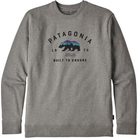 Patagonia Arched Fitz Roy Bear Uprisal Crew Sweatshirt Herr gravel heather